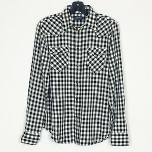 Polo Ralph Lauren Buffalo Plaid Pearl Snap Top